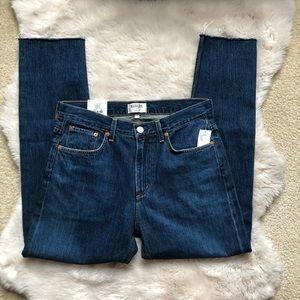 NWT AGOLDE Cut Off Hero Slim Straight Jeans